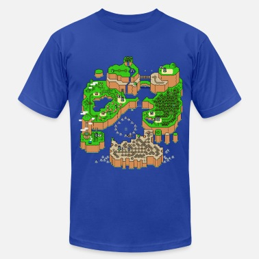 Gaming Collection Super Mario World Map - T-shirt pour hommes