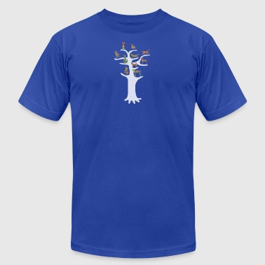 Dog 039 s Tree - Men's T-Shirt by American Apparel