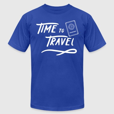 Time to Travel Tshirt - Men's T-Shirt by American Apparel
