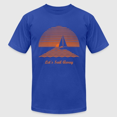 Sailboat Racing Sunset Sailboat - Men's Fine Jersey T-Shirt