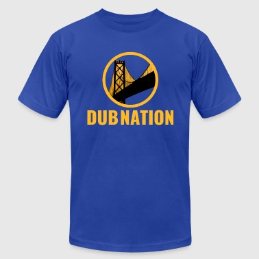 Dub Nation Bay Bridge - Men's Fine Jersey T-Shirt