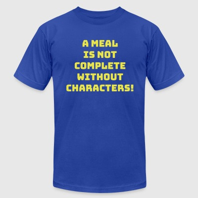 Characters Dining - Men's T-Shirt by American Apparel