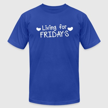 living for fridays with love hearts - Men's Fine Jersey T-Shirt