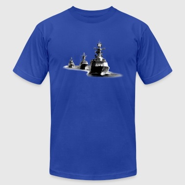 Navy Destroyer Ship Group - Men's Fine Jersey T-Shirt