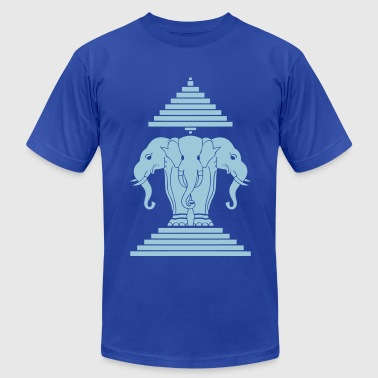 Erawan Lao / Laos Flag - Men's Fine Jersey T-Shirt