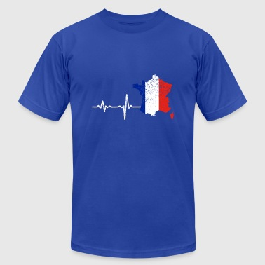 Heartbeat France french gift - Men's Fine Jersey T-Shirt