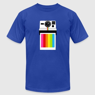 camera rainbow - Men's Fine Jersey T-Shirt