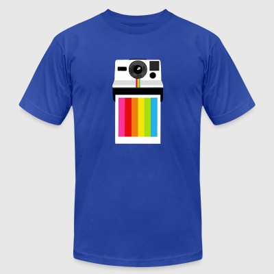 camera rainbow - Men's T-Shirt by American Apparel