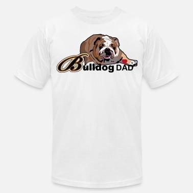 Bulldog Dad Men's Premium T-Shirt - white