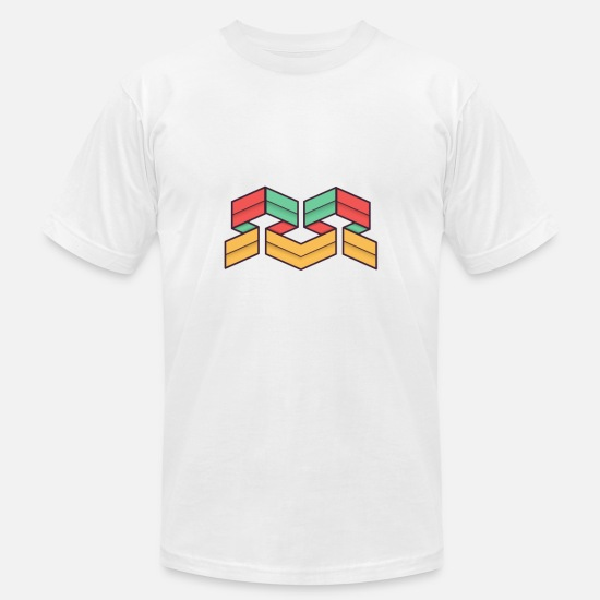 Symbol  T-Shirts - Lego Abstract Geometrie - Men's Jersey T-Shirt white
