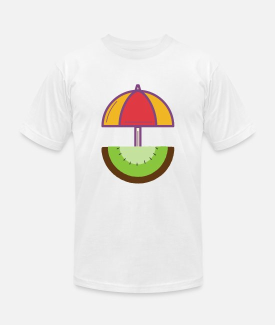 Palm Trees T-Shirts - Kiwi Sunbeam - Unisex Jersey T-Shirt white
