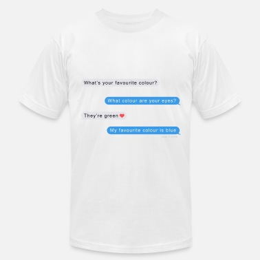 Funny Text funny text chat hilarious gift - Unisex Jersey T-Shirt