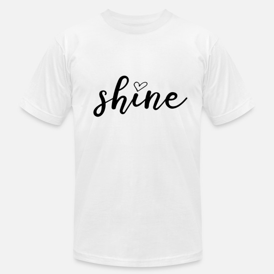 Shine T-Shirts - Shine - Men's Jersey T-Shirt white