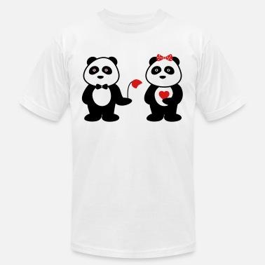 991fdd730 panda in love Men's Premium T-Shirt | Spreadshirt
