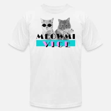 Miami Vice Funny Cats Meowmi Vice 80s Tee Shirt by Bestees - Men's  Jersey T-Shirt