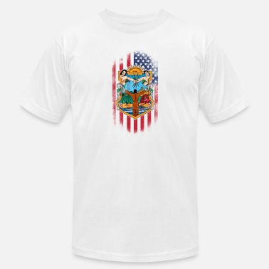 Baja Mexico Baja Californian American Flag - Men's  Jersey T-Shirt