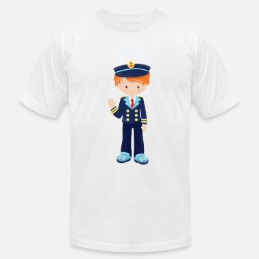 Kids Nautical Captain Boy Nautical Gift Idea - Men's  Jersey T-Shirt