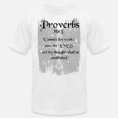 Proverbs 3 Proverbs 16 3 - Men's  Jersey T-Shirt