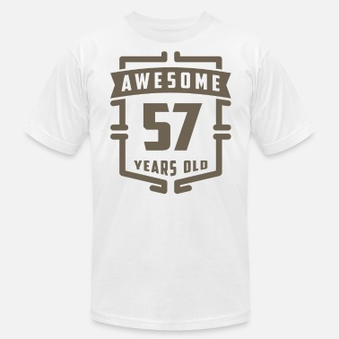 57 Years Old Awesome 57 Years Old - Men's  Jersey T-Shirt