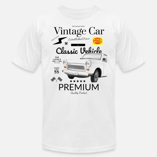 East T-Shirts - East German Car - Trabant Trabbi old car - Men's Jersey T-Shirt white