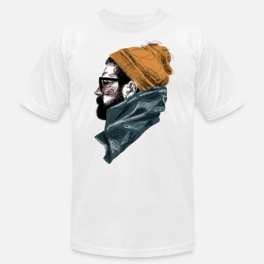 Hipster Bearded Guy 1 - Unisex Jersey T-Shirt