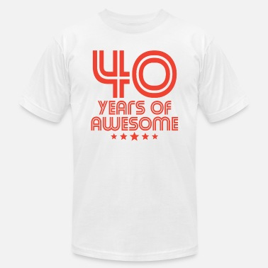 40th Birthday Ideas 40 Years Of Awesome 40th Birthday - Men's  Jersey T-Shirt