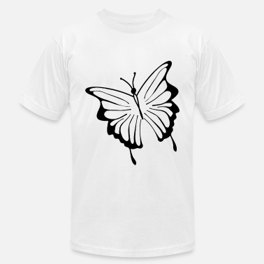 Silhouette Woman With Tattoo butterfly tatoo silhouette black - Men's  Jersey T-Shirt
