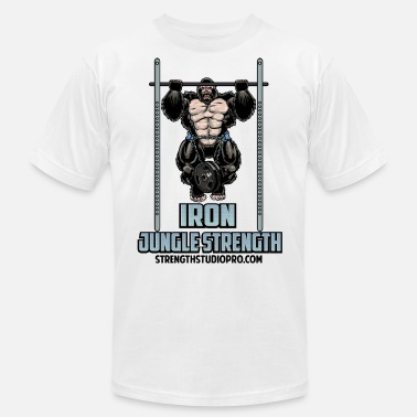 Gorilla Weight Lifting Iron Jungle Strength - Men's  Jersey T-Shirt