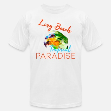 Long Beach Kids Parrot Long Beach lettering - Men's  Jersey T-Shirt