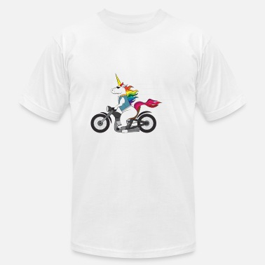 Unicorn Motorcycle Tough Unicorn Biker Motorcycle Trending Gift - Men's  Jersey T-Shirt