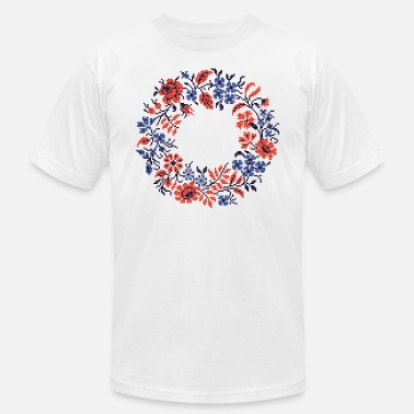 Floral Wedding circle wildflower - Unisex Jersey T-Shirt