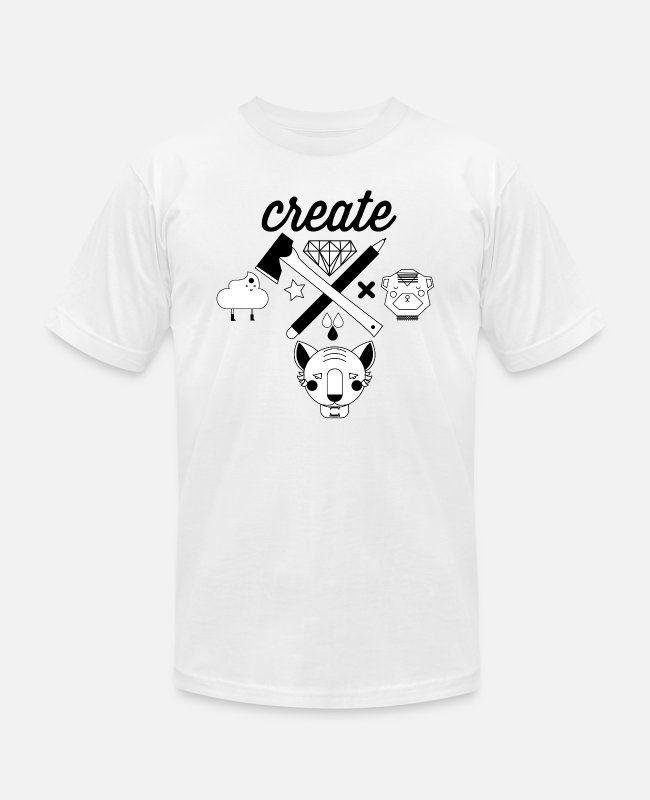 Nature T-Shirts - CREATE - Unisex Jersey T-Shirt white