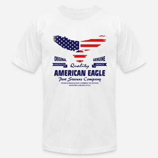 9263a767 American Eagle - USA Flag Men's Jersey T-Shirt | Spreadshirt