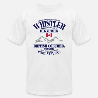 Ski Resort Whistler - Canada Ski Resort - Unisex Jersey T-Shirt