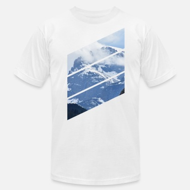 Diagonal Mountain Diagonals - Men's  Jersey T-Shirt