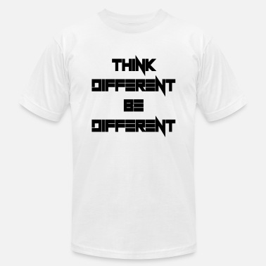 Different Fonts Think different be different - Men's Jersey T-Shirt