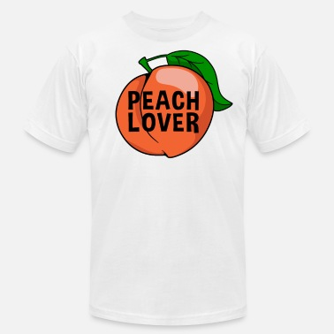 Peach peach fruit healthy snack gift idea - Men's  Jersey T-Shirt