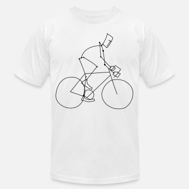 Bicycle Stickman Mens T Shirt