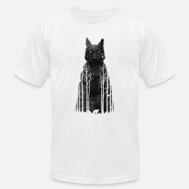 Dark Wolf A wolf in the dark - Men's Fine Jersey T-Shirt