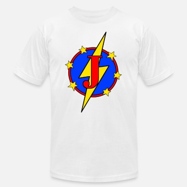 Jayden My Little Super Hero Kids & Baby Letter J - Unisex Jersey T-Shirt