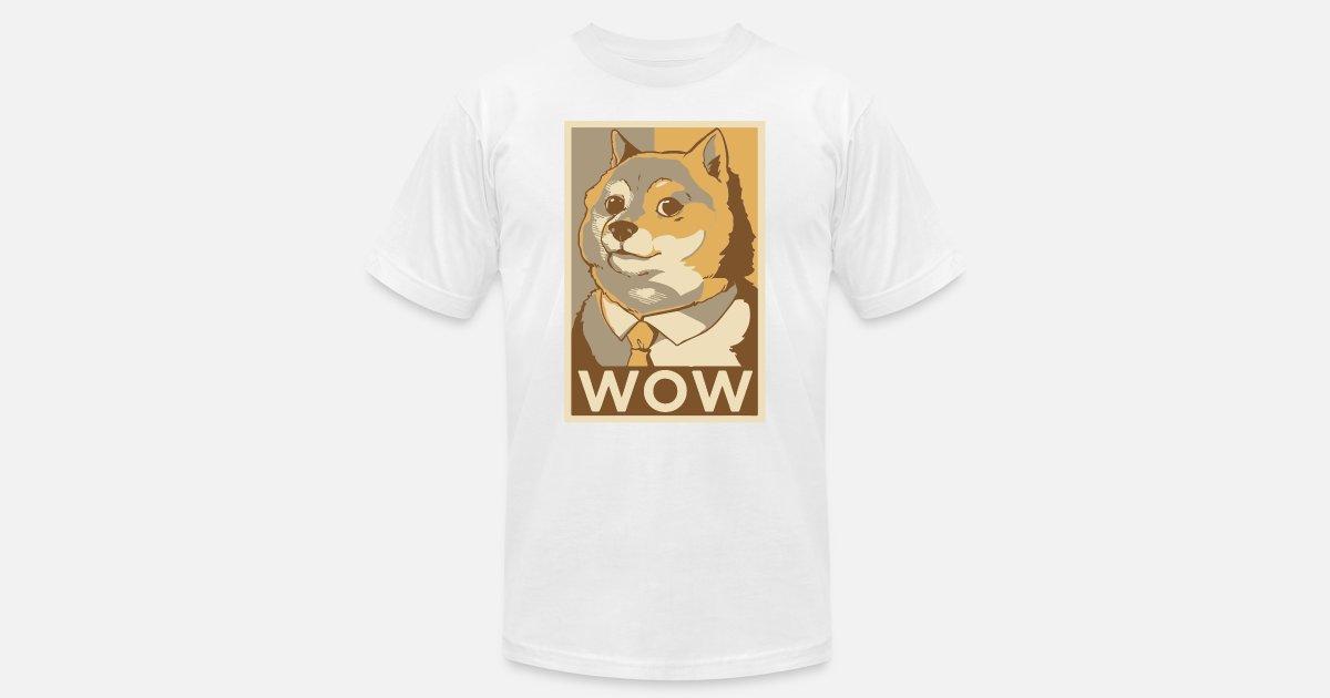 f79622274 Doge WOW Shiba Inu doggo pupper dog meme Men's Jersey T-Shirt ...
