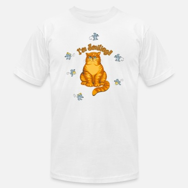 Smile Club Smiling Cat - Men's  Jersey T-Shirt