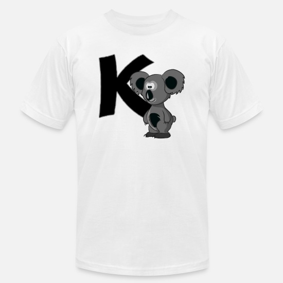 Animal T-Shirts - K Is For Koala Bear - Men's Jersey T-Shirt white