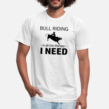 Pbr Bull Riding is my therapy - Unisex Jersey T-Shirt