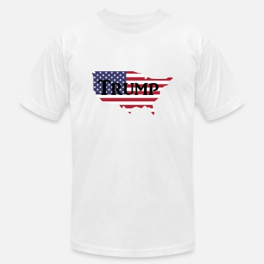Police For Trump Trump USA Map - Men's  Jersey T-Shirt