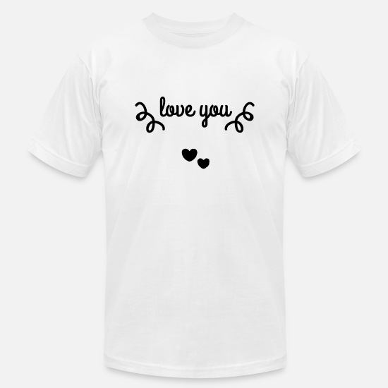Love T-Shirts - Love you - Men's Jersey T-Shirt white