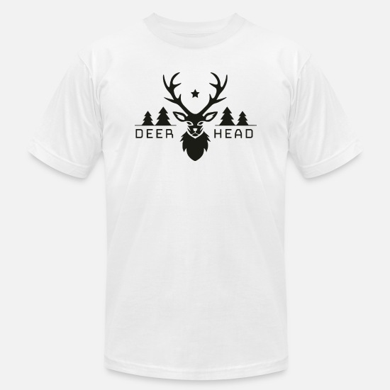 Stag T-Shirts - Forest deer head - Men's Jersey T-Shirt white