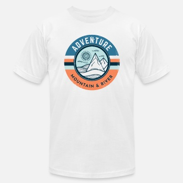Unique Adventure Vintage Mountain River - Unisex Jersey T-Shirt