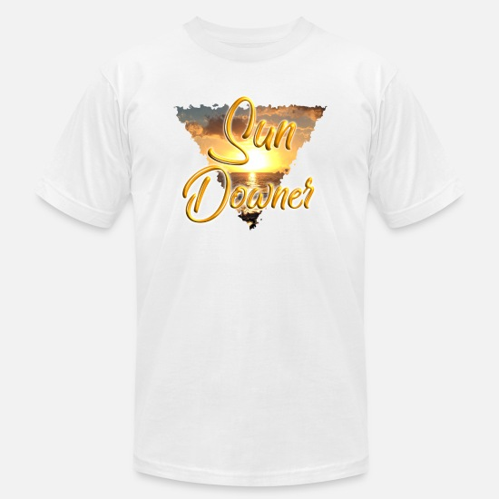 Gift Idea T-Shirts - Sun Downer Beach Holiday Sunset - Men's Jersey T-Shirt white