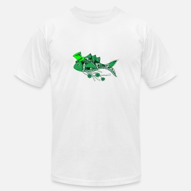 St Patrick Fish Fish Dressed for St Patrick s Day - Men's  Jersey T-Shirt